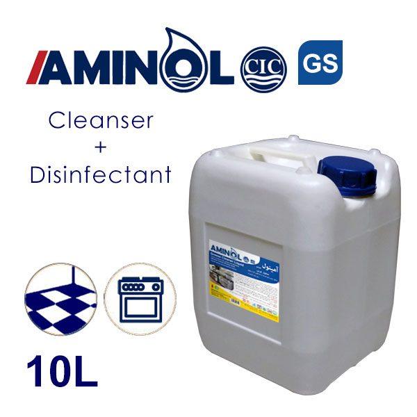 گالن 10 لیتری آمینول GS - چربی زدا و ضدعفونی کننده سطوح