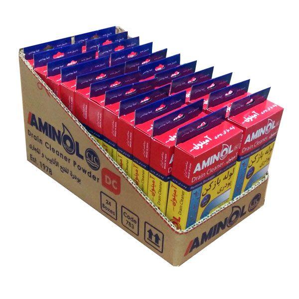 کارتن لوله بازکن پودری آمینول - برش جهت نگهداری در قفسه فروشگاهی